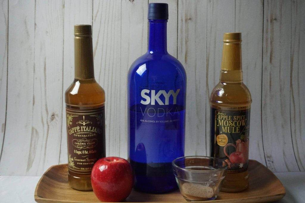 Caramel Apple Spiced Mule Shots Ingredients
