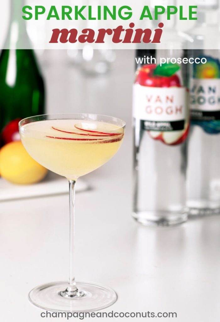 Sparkling Apple Martini with Prosecco