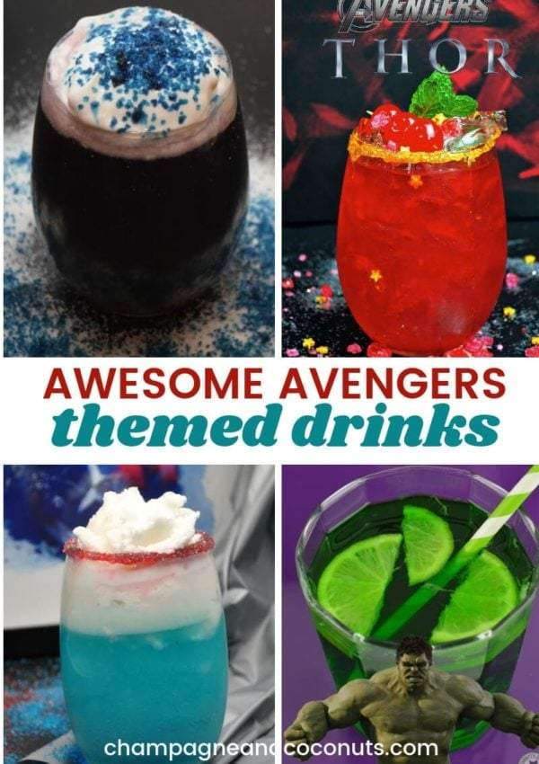 Awesome Avengers Themed Drinks