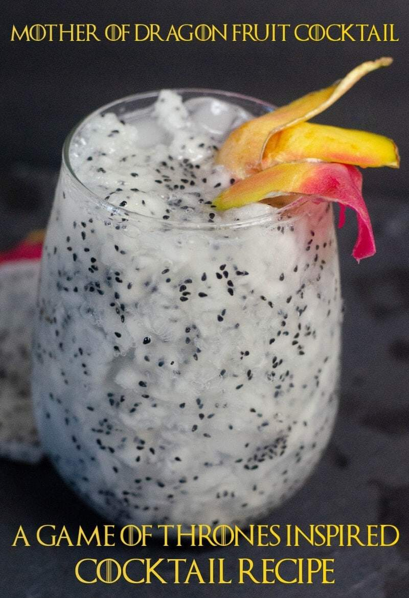 The Mother Of Dragon Fruit Rum Cocktail Inspired By Game Of