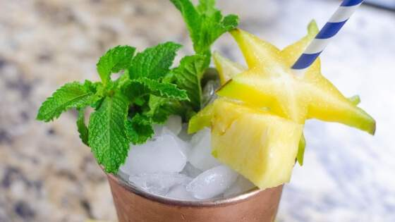 Star Fruit Pineapple Mint Julep Cocktail Recipe