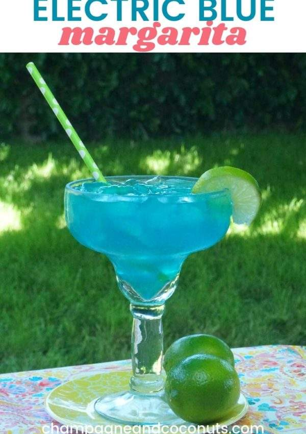 Easy Electric Blue Margarita Recipe with Blue Curacao