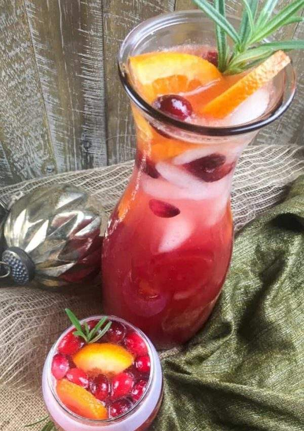 Sparkling Honey Cranberry Ginger Punch