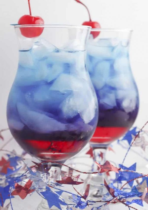 Layered Red and Blue Kool-Aid Punch