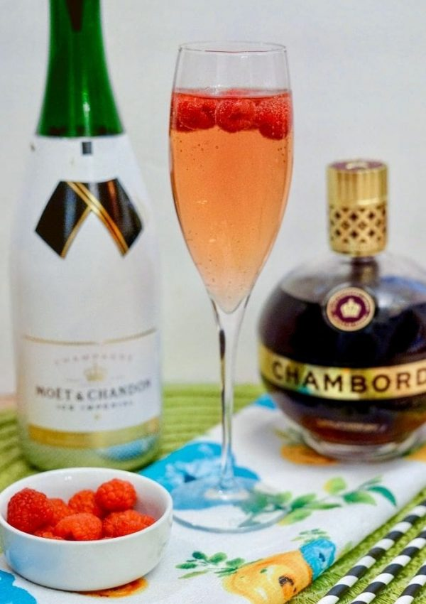 Kir Royale with Champagne and Chambord